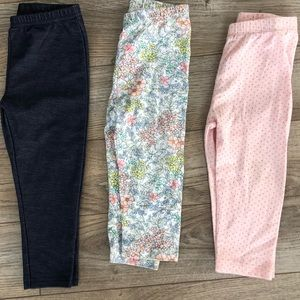 3 Pairs 12-18M Toddler Leggings